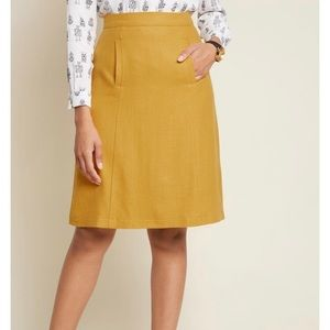 ModCloth Mustard Yellow Wool Skirt 🍁